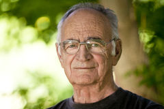 Elderly Man Looking At The Camera Stock Images