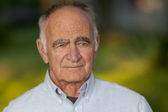 Elderly Man Looking At The Camera Stock Image