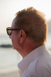 Elderly man looking at the sea Royalty Free Stock Photography