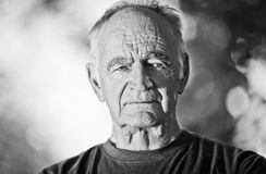Elderly Man Lost In Thought Stock Photos