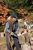 Elderly man lumberjack 4 Royalty Free Stock Photos