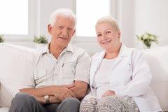 Elderly man with nurse Royalty Free Stock Photography