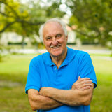 Elderly man outdoor Stock Photography