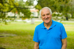 Elderly man outdoor Royalty Free Stock Image