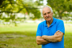Elderly man outdoor Stock Images