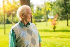 Elderly man outdoor. Stock Photo