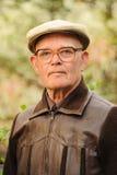 Elderly man outdoors Royalty Free Stock Photo