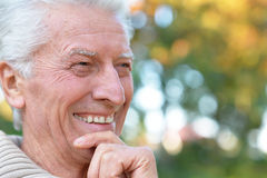 Elderly man in park Royalty Free Stock Images