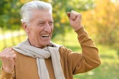 Elderly man in park Royalty Free Stock Image