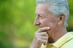 Elderly man in park Stock Photos