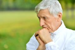 Elderly man in park Royalty Free Stock Photography