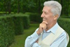 Elderly man in park Royalty Free Stock Photos
