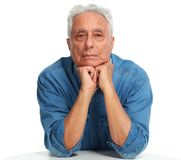 Elderly man portrait. royalty free stock photos