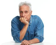 Elderly man portrait. royalty free stock images