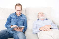 Elderly man at the psychologist Royalty Free Stock Images