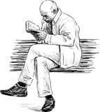 Elderly man reading Stock Images
