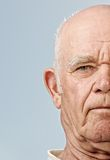 Elderly man's face Stock Photo