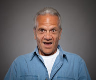 Elderly Man with surprised look Stock Photos