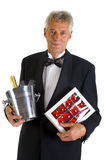 Elderly man in tuxedo Stock Photo