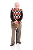 Elderly man umbrella Royalty Free Stock Images