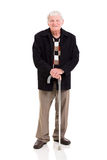 Elderly man walking stick Royalty Free Stock Image