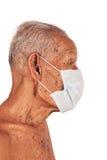 Elderly man wearing mask Royalty Free Stock Photo