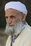 Elderly man wearing a turban. stock photos