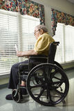 Elderly Man in Wheelchair Stock Photos
