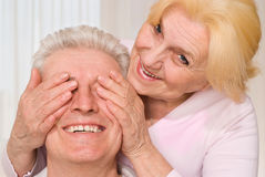 Elderly man and woman Stock Image