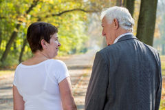 Elderly man and woman royalty free stock photos
