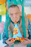 Elderly mans birthday party royalty free stock image