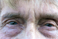 Elderly mans eye Royalty Free Stock Images