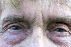 Elderly mans eye Royalty Free Stock Images
