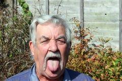 Elderly mans tongue. royalty free stock photos
