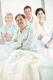 elderly medical patient team 图库摄影