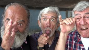 Elderly Men Acting Silly