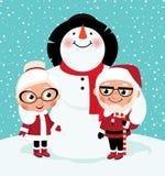 Elderly Mr And Mrs Santa Claus Stock Image