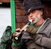 Elderly Musician Busking In Dingle Ireland