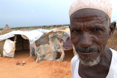 Elderly Muslim Man in Darfur royalty free stock photo