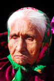 Elderly Navajo woman Stock Photography