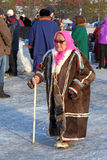 Elderly Nenets woman Royalty Free Stock Photography