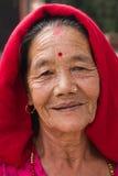 Elderly Nepali woman, Pokhara, Nepal Stock Photography