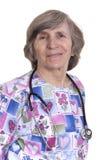 Elderly nurse Royalty Free Stock Photography