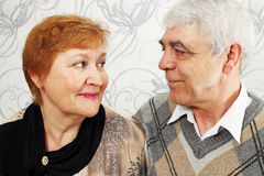 Elderly pair Royalty Free Stock Photo