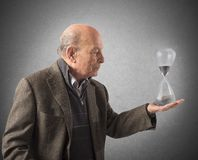 Elderly and the passage of time Stock Photo