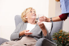 Elderly patient and caregiver Royalty Free Stock Photography