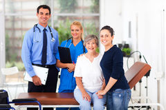 Elderly patient hospital Stock Photography