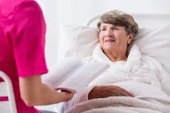 Elderly patient with positive attitude Stock Photos