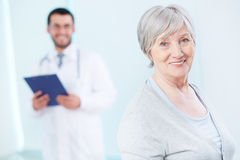 Elderly patient Stock Image