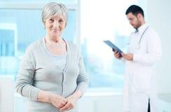 Elderly patient Stock Images